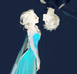 ...烦了,动漫的,艾莎和杰克冻人的图