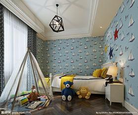卧室男孩房卧室效果图3D模型图片