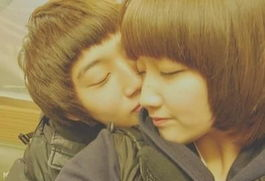 轻轻的吻你小情侣亲密图片