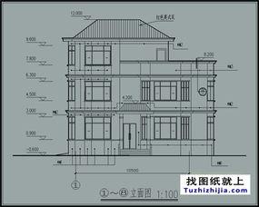 ...130平米三层自建房屋别墅施工设计图纸及效果图