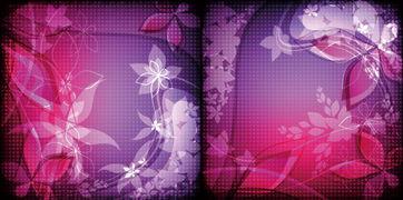 泛幻-幻彩花卉背景矢量