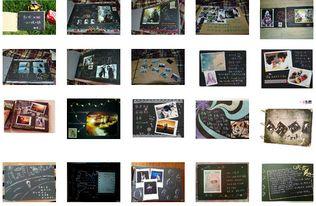 是要情侣的这种diy相册成品模板还是手绘图素材-diy相册内页成品图