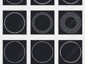 ...圆圈PNG透明背景免扣素材图片 模板下载 7.76MB 其他大全 花纹边框