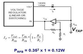 通常,1W大功率LED的典型工作电流为350mA,如果选择RFB等于1...