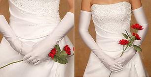 新娘丝绸手套 小蕾丝的优雅情调