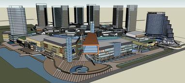 SketchUp综合体商业区模型素材设计图下载 图片10.34MB 其他模型库 ...