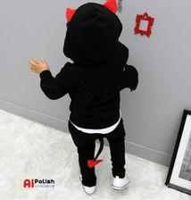 5 8岁冬韩版新款童装男童女童套装宝宝儿童加厚珊瑚绒卡通套装