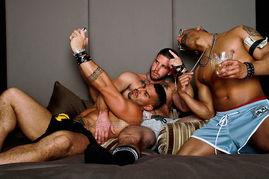 三个壮熊一床戏 NastyPig男士性感内裤