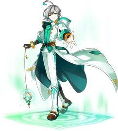 动漫立绘-艾尔之光 第二季神官角色 艾因 震撼登场