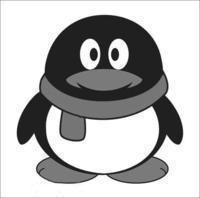灰色的qq企鹅头像