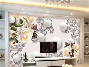 3D花卉背景墙花纹卧室背景墙壁画图片设计素材 高清psd模板下载 56....
