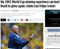 ...冠经验能助巴西重塑辉煌-斯科拉里 盼02年经验助巴西登顶 欲雪对德2...