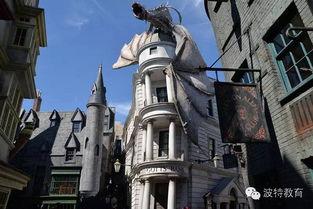 神秘的魔法城堡里是充满魔幻的哈利波特魔法世界   魔法小镇里这只巨...
