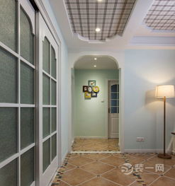 简约的玄关,典型的地中海风格装修.-郑州装修网推荐 96平米三室一...