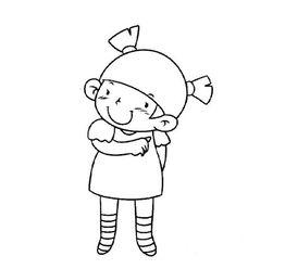 可爱卡通女孩简笔画 可爱女孩