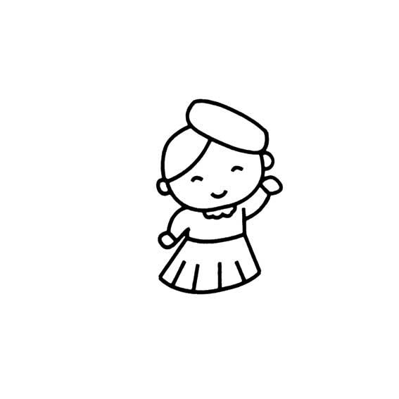 简笔画(74)——画简单可爱的小女孩