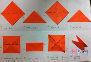 如何用双三角基本形折纸可爱大鸟头