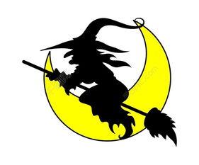 飞的女巫万圣节插画矢量矢量图免费下载 eps格式 编号14990175 千图...