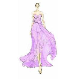 设计 手绘 礼服 素描