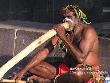 实拍 澳洲街头的土著卖艺人 图