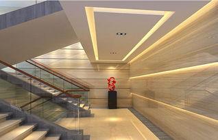 办公楼梯间面设计-高端大气上档次办公空间设计