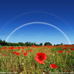 彩虹天空图片