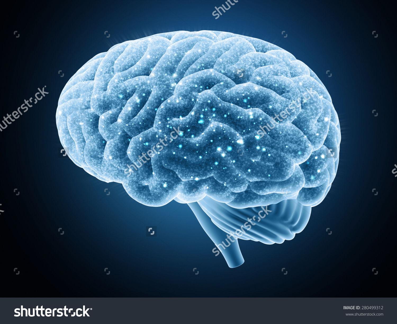 大脑孤立在一个黑暗的背景 神经冲动 医疗保健,物体 海洛创意 ...