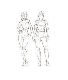 求动漫人体结构图 女生的