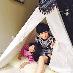 鲍蕾与女儿在家搭起温暖的帐篷-爱妻秀美腿 陆毅示爱 最爱的还是这两...