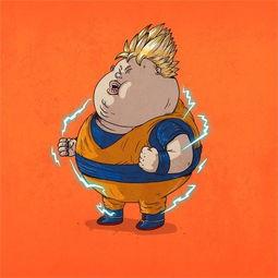 当知名经典动漫人物变成胖子 你的童年还回得去吗