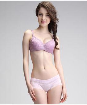 内衣优雅风 中国红花纹聚拢调整型文胸成熟性感诱惑女士内衣