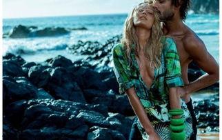 超模坎迪斯-斯瓦内普尔(Candice Swanepoel)为巴西时尚品牌...