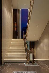 楼梯房楼梯间-大理石楼梯效果图
