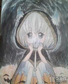 洛克王国骷髅法师彩铅玩家手绘