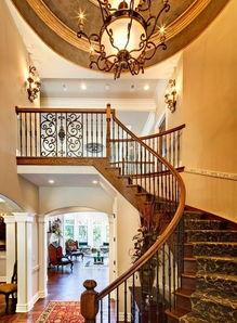 农村带旋转楼梯别墅设计施工图别墅设计图纸