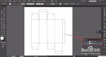 包装盒线稿怎么转为虚线及外轮廓描边