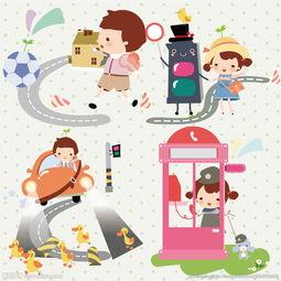 韩国卡通男孩女孩图片