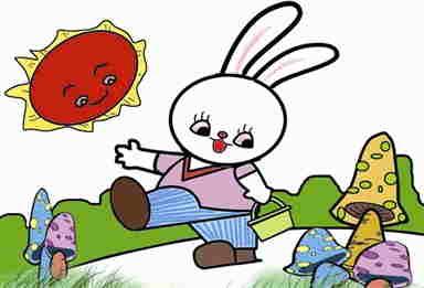 小白兔和妈妈就住在这个大森林里面.   有一天,兔妈妈准备带小白兔...
