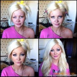 欧美黄片女星化妆前后对比吓人 图