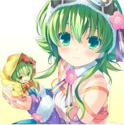 绿色头发女生男生动漫图片