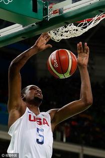 杜兰特扣篮.-男篮小组赛 美国100 97险胜法国