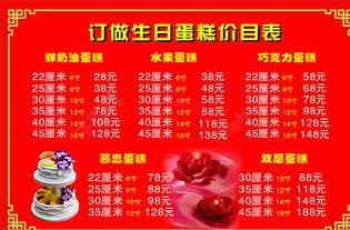 订做生日蛋糕价目表图片模板免费下载 cdr格式 994像素 编号...