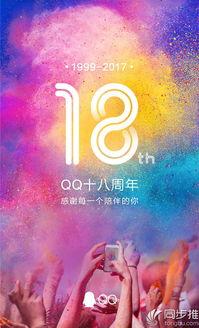 腾讯QQ今天18岁 生日快乐