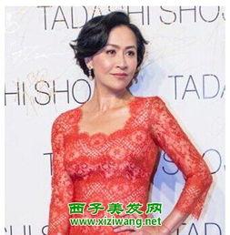 刘嘉玲也有四十多岁了,这偏偏分-40岁胖女人适合短发发型