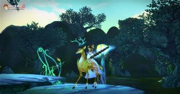 仙家女骑小鹿靓影 一只坐骑引发的故事