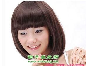 女生齐刘海短发图片 7