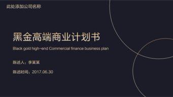 黑金高端商业计划书PPT模板