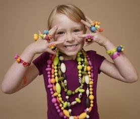 百变美国波普串珠珠手工diy儿童女孩玩具益智插珠