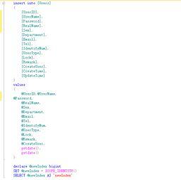 sql insert语句调用scope identity 函数返回值为null
