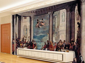家庭迎门墙壁画-我图网提供独家原创西方宫廷画门家的宴会电视背景墙素材下载,作品...